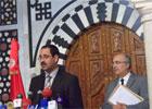 Au cours d'une conférence de presse tenue