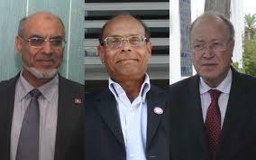Les trois présidences de la troïka gouvernante en Tunisie