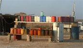 Environ 10640 litres de carburant ont été saisis jusqu'au 13 avril 2013