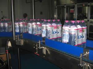 Le travail s'est arrêté à l'usine d'eau minérale