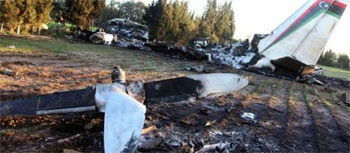 Les deux boîtes noires de l'avion militaire médicalisé libyen qui s'est écrasé