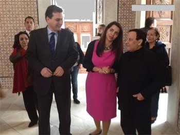 Le styliste international Ezzedine Alaya s'est récemment déplacé au musée du Bardo en compagnie de la ministre tunisienne