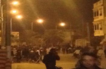Un groupe composé de 300 manifestants ont parcouru