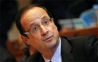 Le président francais Francois Hollande