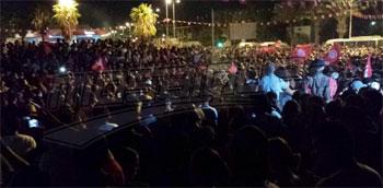 Des techniciens ont calculé le nombre des personnes ayant participé à la manifestation