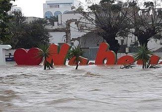Nabeul : Les eaux pluviales s'infiltrent dans cinq hôtels