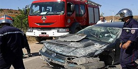cinq personnes décédées dans un accident de la route