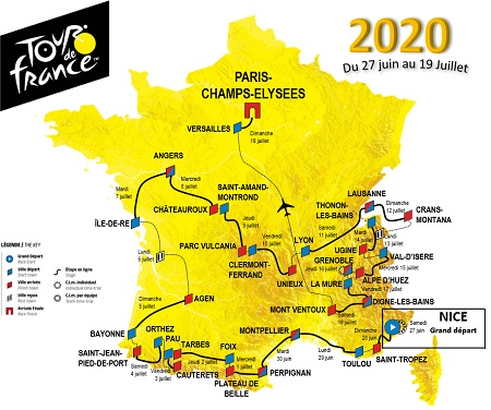 Tour De France Schedule 2020.Tour De France Dates 2020 Tour 2020