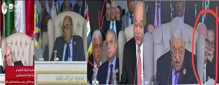 De gauche à droite : Béji Caïed Essebssi, le chef de l'Etat des Comores, l'Irakien Falah Faiadh  et un membre de la délégation palestinienne