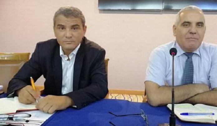 Photo : Adnane Bettaïeb, nouveau DG de la Sits et à sa droite, le président du CA Lotfi Mechaal