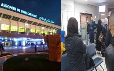 Aéroport de Tunis Carthage, 1er mars 2020 vers 1 heure du matin. Scène de colère hystérique entre passagers déboussolés, et agents de l'ordre, en l'absence complète des agents Tunisair