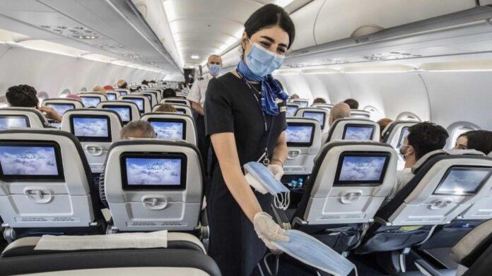 masque en avion